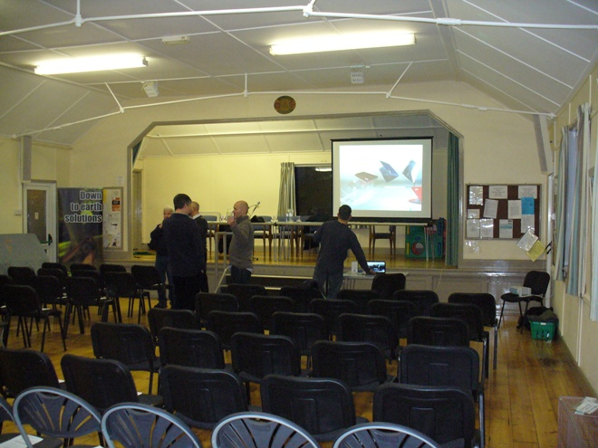 Public Meeting 21-3-13 setting up